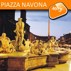 The mp3 audio visit Piazza Navona and Four Rivers fountain