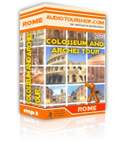 Box of mp3 audio tour 'Colosseum and Arches Tour', in Rome
