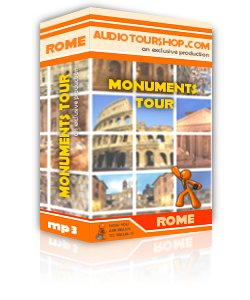 Box of mp3 audio tour 'Monuments Tour', in Rome