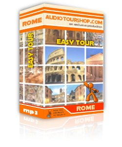 Box of mp3 audio tour 'Easy Tour', in Rome