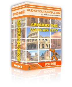 Box of mp3 audio tour 'Around the Vatican City', in Rome